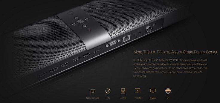 Xiaomi TV Bar - jede Menge Anschlüsse