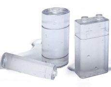 Eiswürfel in Batterieform