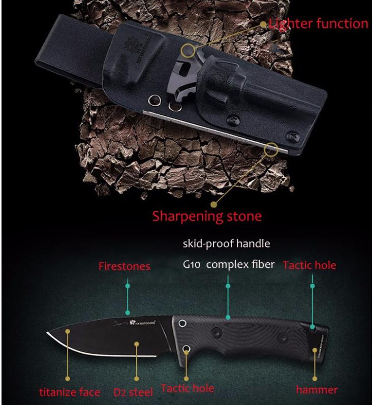 HX Outdoors Survival Messer Funktionen