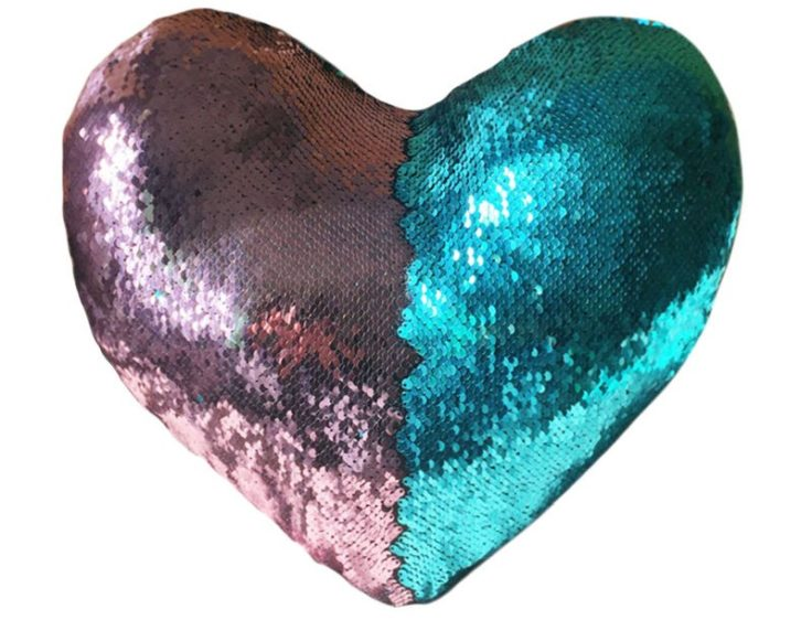 Pailetten Kissenbezüge Herz