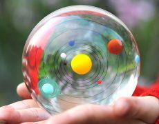 Sonnensystem in der Kristallkugel