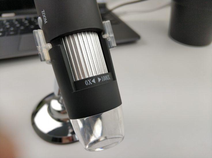 USB Mikroskop Zoom Regler