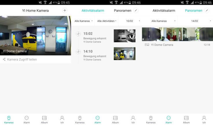 YI Home App Oberfläche