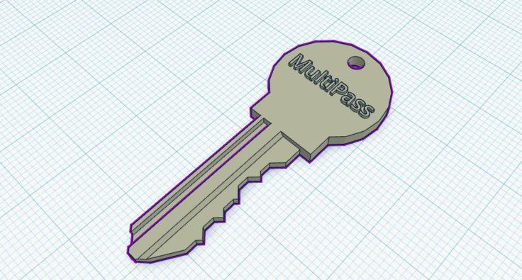 3D gedruckter Schlüssel