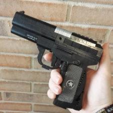 Klemmbaustein Pistole schwarz