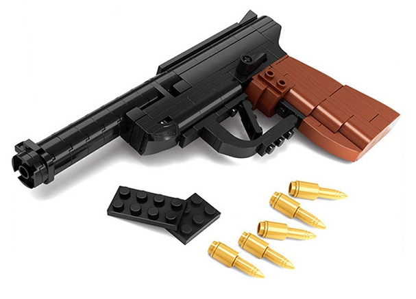 Bausteine Lego Spielzeug Pistole