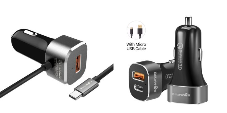 BlitzWolf QC 3.0 USB Typ-C Auto Ladegeräte