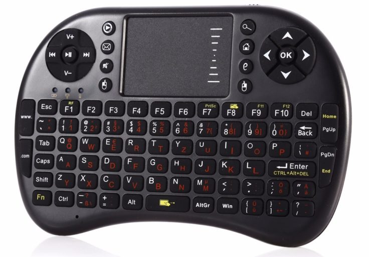 Drahtlose 4 in 1 Tastatur QWERTZ