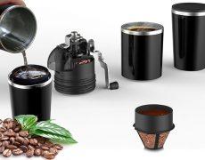 Handbetriebene Kaffeemaschine