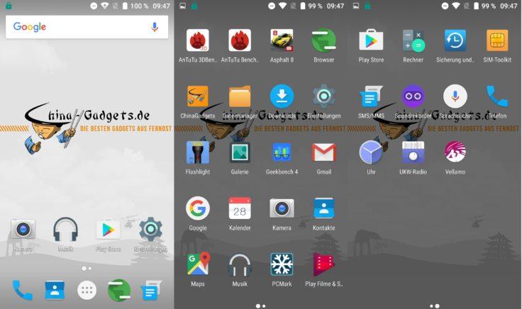 Umi Z Smartphone Screenshots System