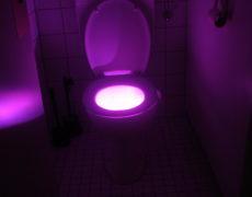 Toilettenlicht violett