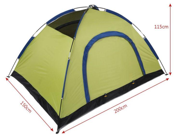 Tomshoo Campingzelt Maße