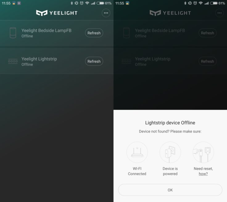 Xiaomi Yeelight Smart LED-Band Screenshots Yeelight App