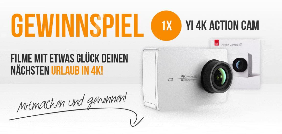 Xiaomi Yi 4K Actioncam Gewinnspiel