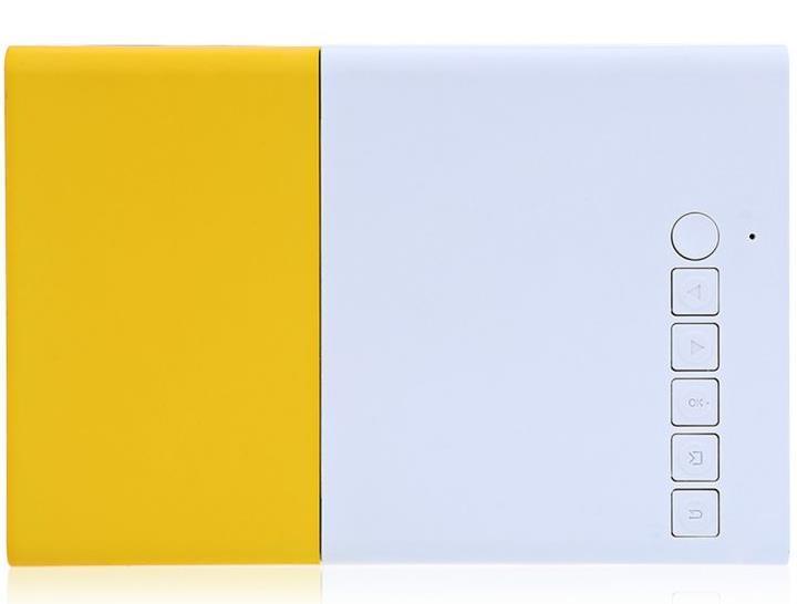 YG 300 portabler LCD-Beamer Seitenansicht