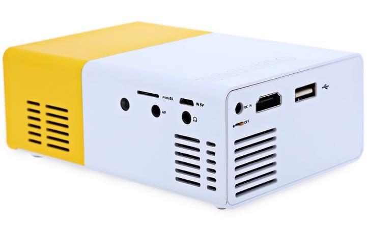 YG 300 portabler LCD-Beamer Anschlüsse