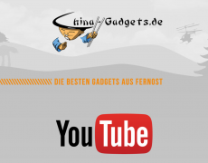 China Gadgets Logo mit Slogan und YouTube Logo