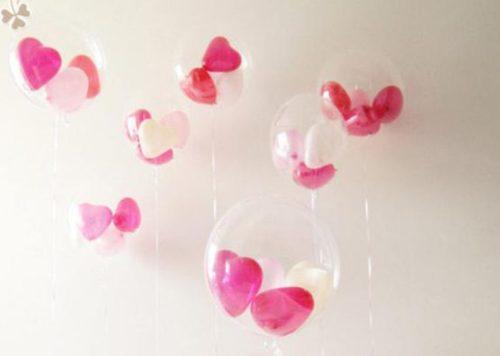 durchsichtige Luftballons