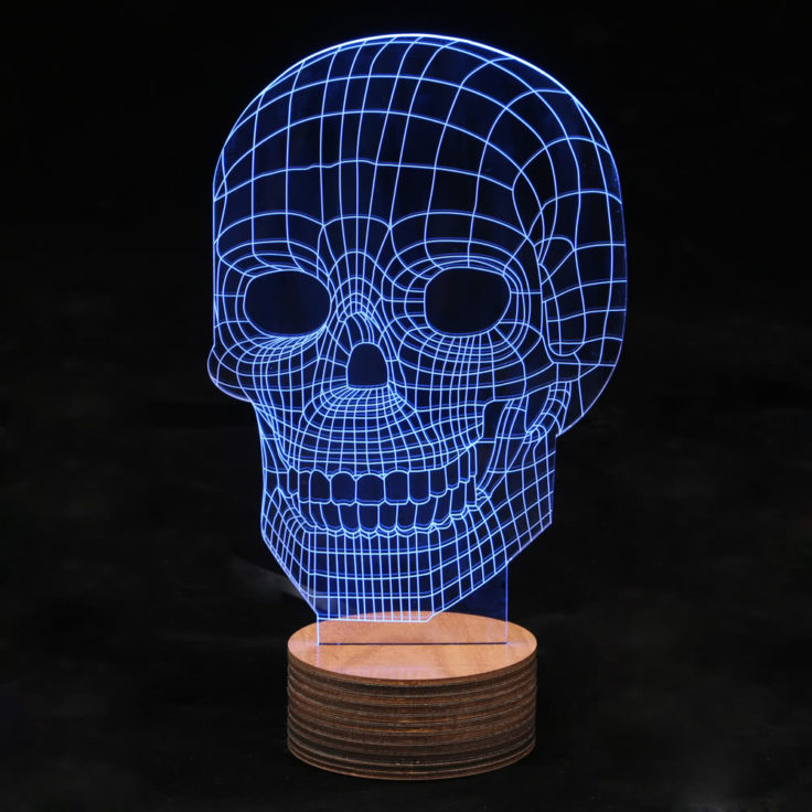 USB LED 3D Totenkopf