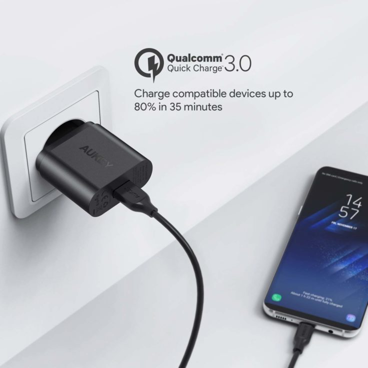 AUKEY USB-Ladegerät Quick Charge Steckdose