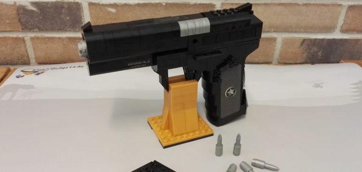 Steckbaustein-Pistole