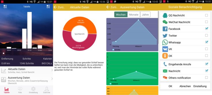 Makibes HPlus Watch App Aerobic A1