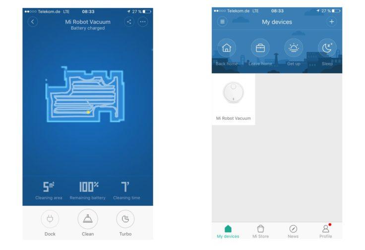 Mi Home Saugroboter App Englisch