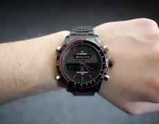 Naviforce Armbanduhr an Handgelenk