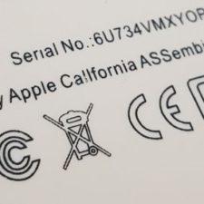 Kennzeichnungen auf Elektrogrät