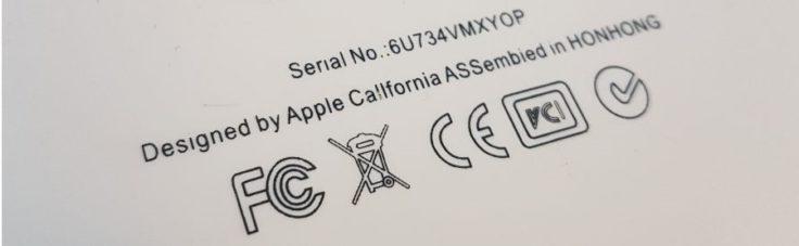 Kennzeichnungen auf Elektrogräten