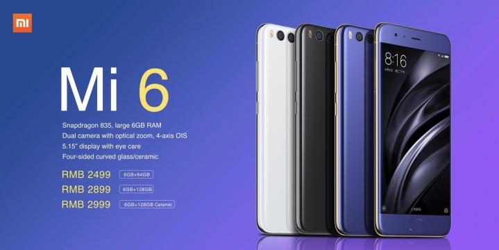 Xiaomi Mi 6 Smartphone Preis
