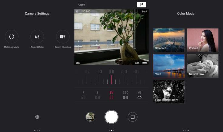 YI-M1 App Übersicht