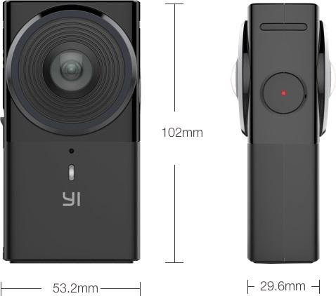 Yi 360 VR Maße