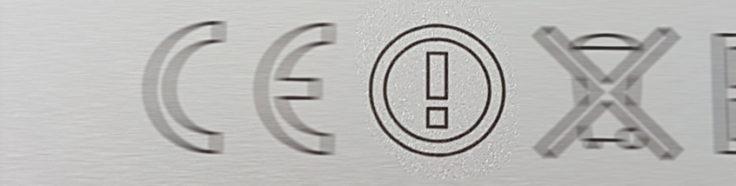 CE-Kennzeichnung mit Ausrufezeichen