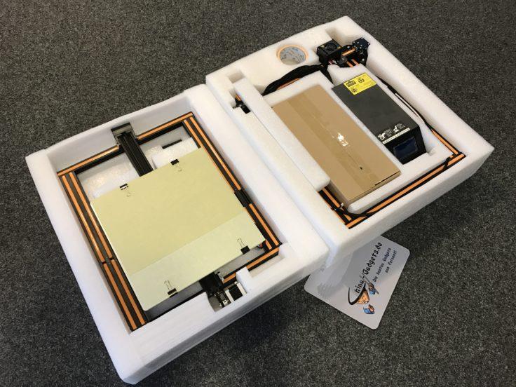 CR-10 Verpackung - zwei Schichten