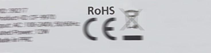 Ausgeschriebenes RoHS-Logo