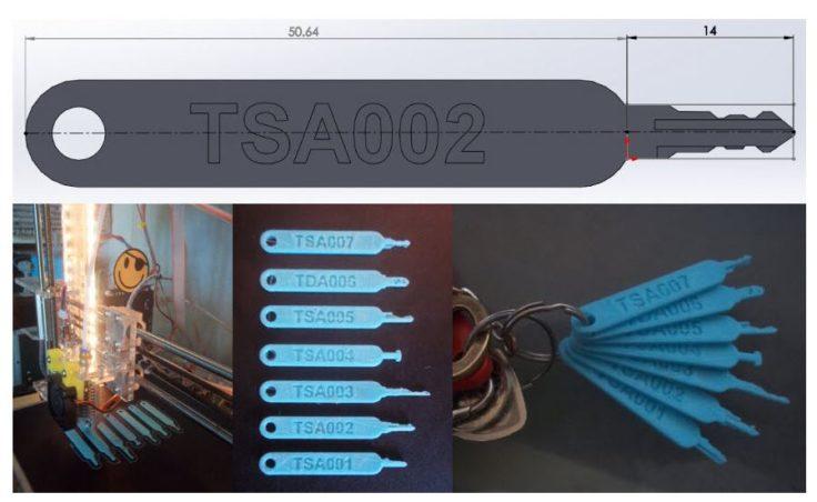 TSA Master Keys ausgedruckt