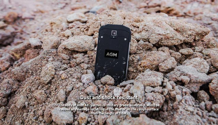 wasserdichtes AGM A8 Outdoor Smartphone Staubdicht