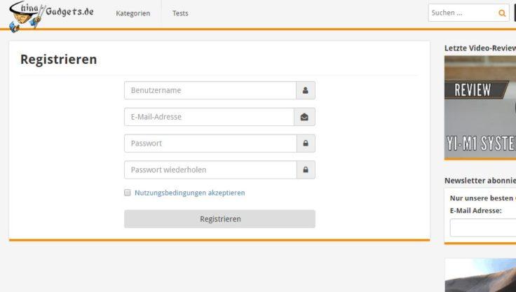 CG-Registrierung