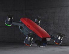 DJI Spark Selfie Drohne Rot
