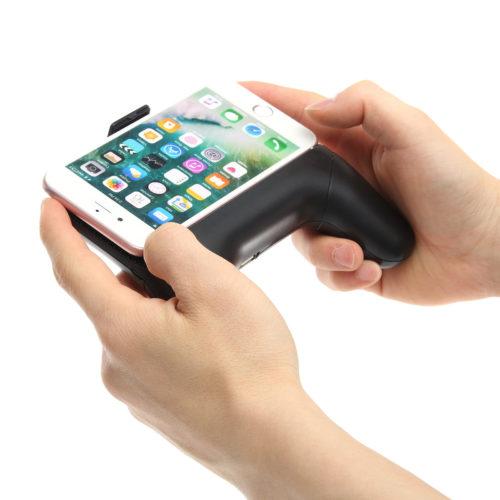 Gamepad-Halterung fürs Smartphone mit integrierter Power Bank