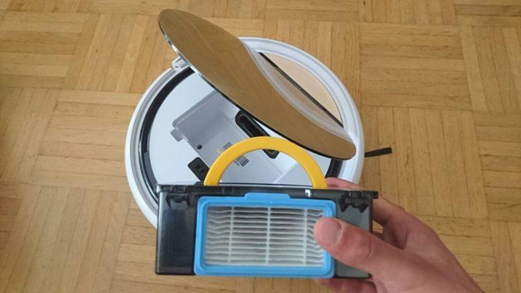 ILIFE V5S Pro Saugroboter Staubkammer