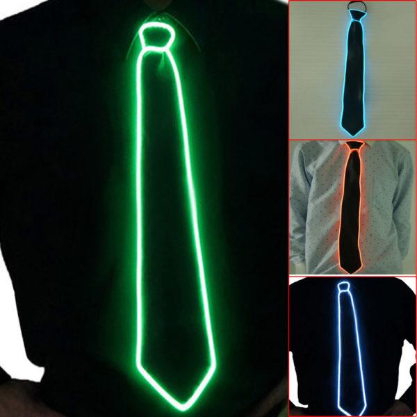 LED Krawatte bunt