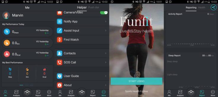 Funfit App Smartwatch NO.1 D7