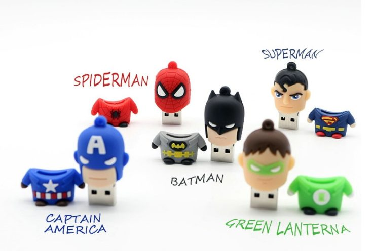 Superhelden USB-Stick Superman Batman Spiderman Captain America Green Lantern