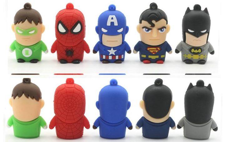 Superhelden USB Sticks Batman Superman Green Lantern Spiderman Captain America
