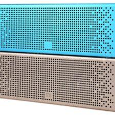 Xiaomi Metal Box Bluetooth Lautsprecher blau und gold