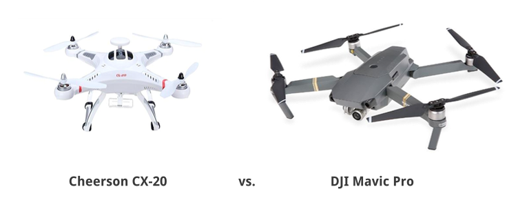Cheerson CX-20 vs DJI Mavic Pro