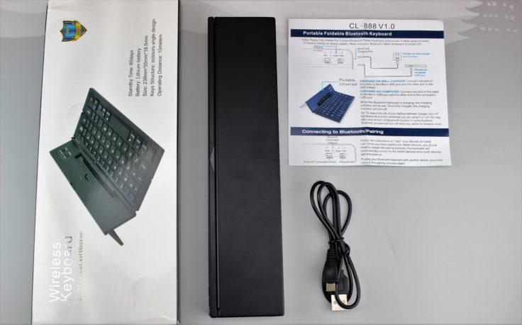 faltbare Cosyswan Bluetooth Tastatur Lieferumfang