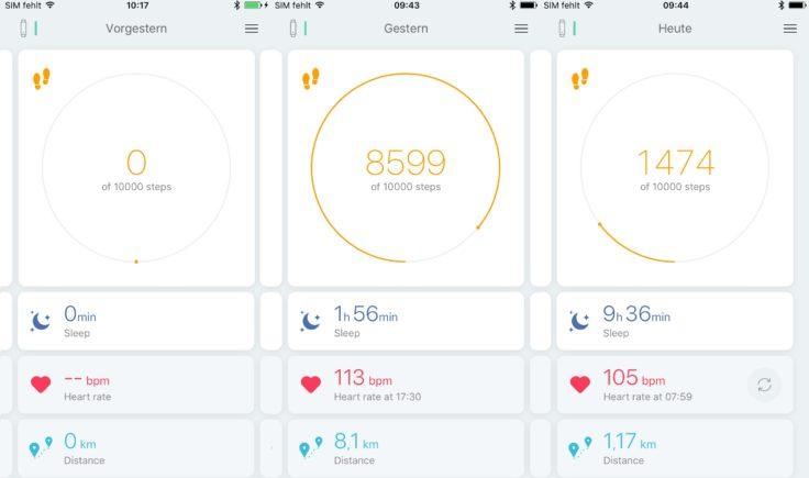 Xiaomi Huami Amazfit Arc Daten